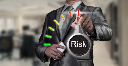 businessman working on risk management, business concept Foto de archivo