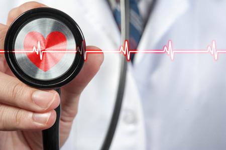 医師は聴診器、医療の概念を使う 写真素材