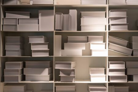 shelf: white book on shelf