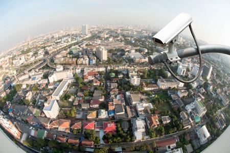 fish eye lens: CCTV camera or surveillance operation