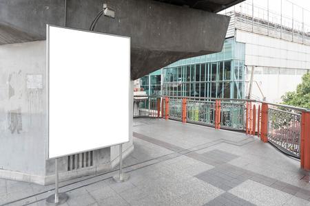 walk board: Blank bill board for advertising on walk way