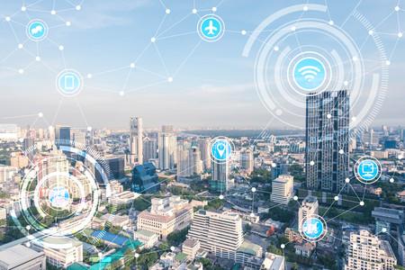 ville intelligente et d'un réseau de communication sans fil, IdO (Internet des objets), l'ère de l'Internet, Internet de toutes les choses, Internet dans toutes les vies de jour