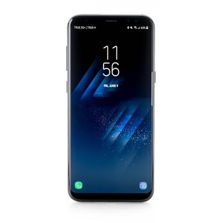 BANGKOK, THAILAND-June 9th 2017: Samsung Galaxy S8+, S8 Plus on white background, show default lock screen