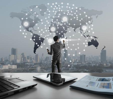AI conceptual in business technology, artificial inteligence concept Stock Photo