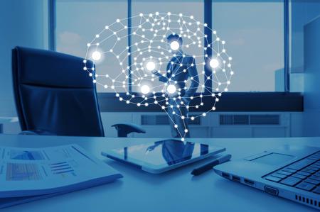 AI conceptual in business technology, artificial inteligence concept Archivio Fotografico