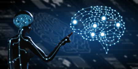 AI, Artificial intelligence conceptual of next generation technology