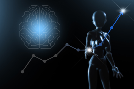 AI, Artificial intelligence conceptual of next generation technology transformation, business improvement by AI tech