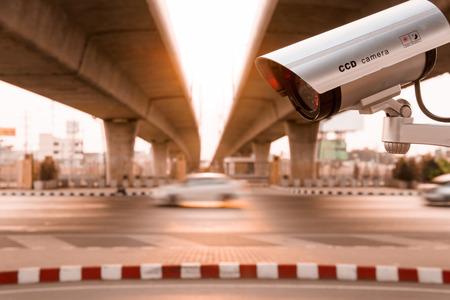 CCTV surveillance camera operating on super high way road