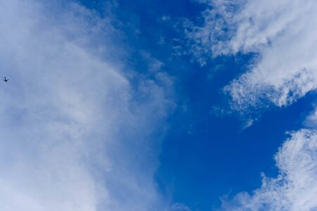 clear blue sky with cloud during day