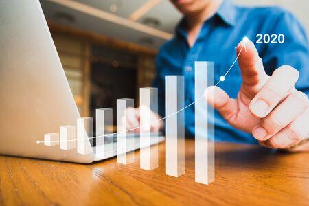 Imagen empresarial para el plan objetivo del año 2020 el próximo año