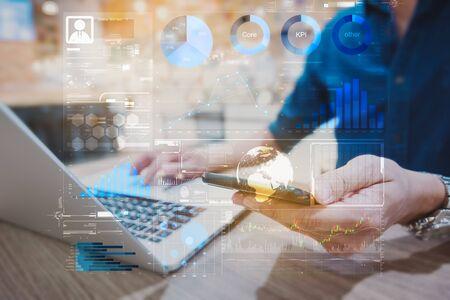 Informe del panel de rendimiento de KPI del personal de los resultados del trabajo individual Indicadores financieros para la aplicación de inicio de negocios.