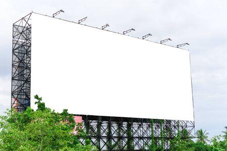 Blank huge ads sign Stockfoto
