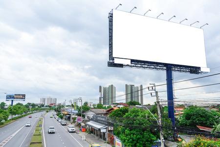 Blank huge ads sign for selection