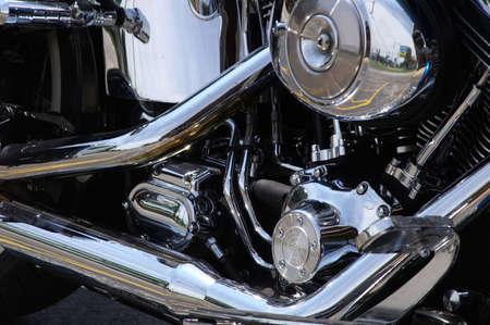 Motorcycle Engine Reklamní fotografie - 490215