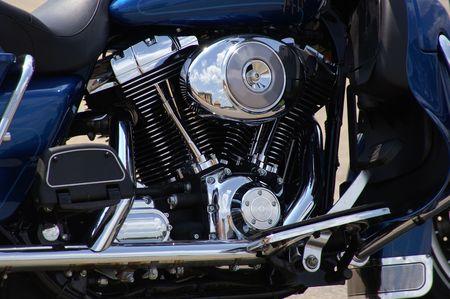Motorcycle Engine Reklamní fotografie - 490219