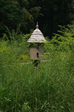 Birdhouse in Field