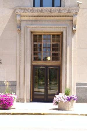 Traditional Vintage Business Doorway