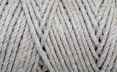 Close-up of natural rope texture. (collection of vegetable and natural fibers). Archivio Fotografico