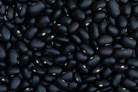 Close-up texture of Beans - raw black beans (legume)