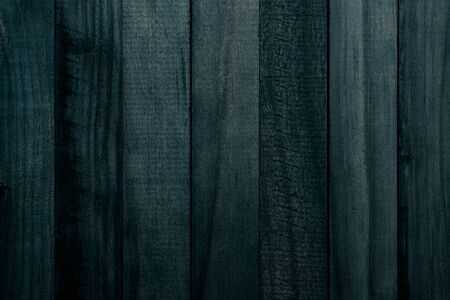 Beautiful texture of slats of natural wood of dark green color (turquoise). Vertical sense. Фото со стока - 134259881