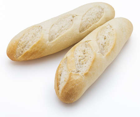 Freshly made white bread isolated on white