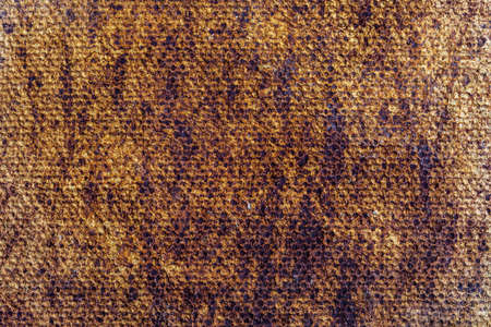 Beautiful natural and rustic clay background (series of copper oxide textures on ceramic). Ocher and earthy colors. With copy space.