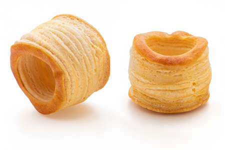 Vol au vent isolated on white background. Stock fotó