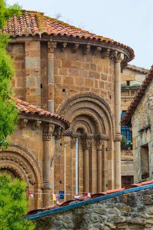 Collegiate Church Santillana del Mar (Cantabria - Spain). Romanesque art of the twelfth century. Santiago's road