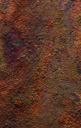 Beautiful natural and rustic clay background (series of copper oxide textures on ceramic). Ocher, earthy, red, magenta, yellow, green and blue colors. With copy space.