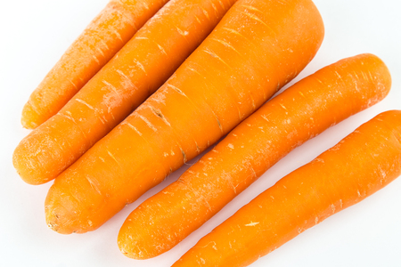 Carrot isolated on white background. Healthy food, diet Imagens