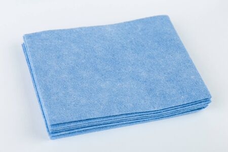 Kitchen rag for cleaning blue color on an isolated background.