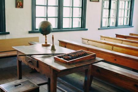Vintage school classroom Standard-Bild