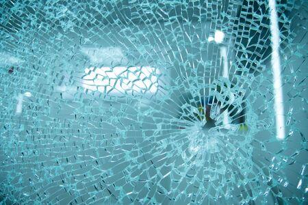broken glass,background of cracked window Standard-Bild