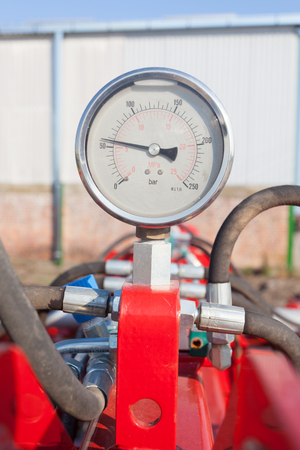 chiller: pressure gauge Stock Photo