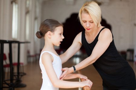 little girl dancing: ballet class