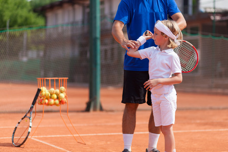 Le tennis de coaching Banque d'images - 48328538