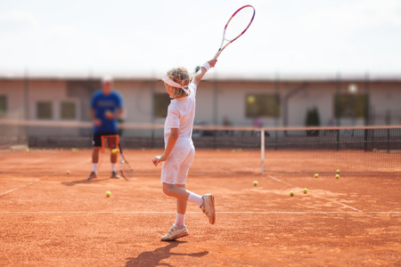 coaching: tennis lesson
