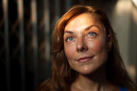 dreamy eyed: portrait of a beautiful woman Stock Photo