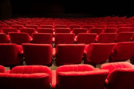 red theater seats Foto de archivo