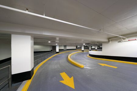 Entry and exit road for a New Underground Parking Garage of a Shopping Centre