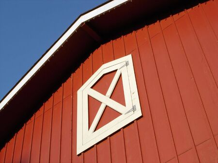 Red Barn Roof Stock Photo