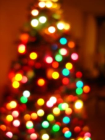 Christmas Tree Blur Background                     Stock Photo