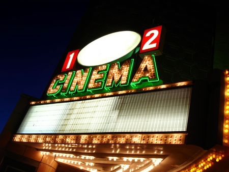 Cinema Sign Blank                     Stock Photo