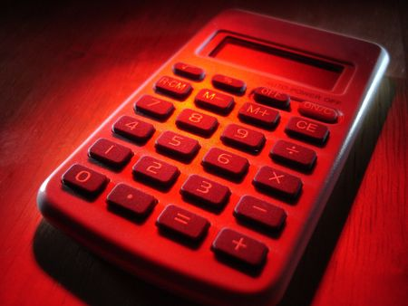 Calculatrice In Red Banque d'images - 3670254