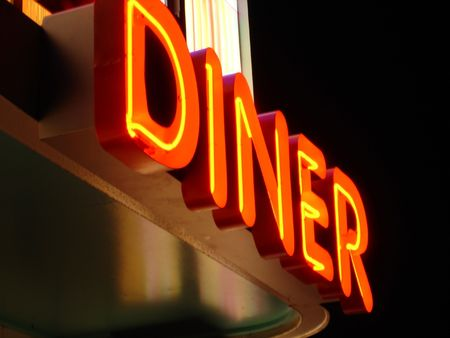 Neon Diner Sign Stock Photo - 3670246