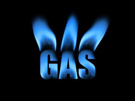 Résumé de gaz naturel Banque d'images - 3670237