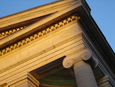 Court Building Colonne Banque d'images - 3670255