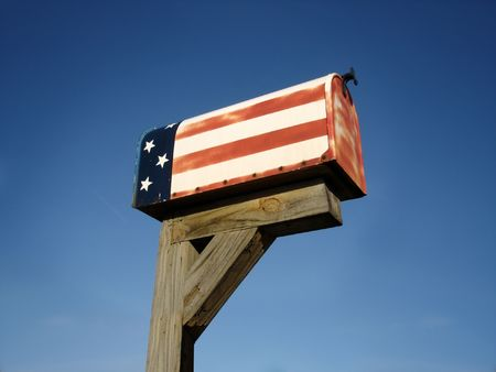 Old Patriotic Mailbox Stock Photo - 3670245