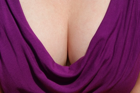 Taseful representative view of a womans cleavage.