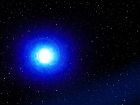 Vortex bleu dans l'espace dans une galaxie imaginaire. Banque d'images - 10775825